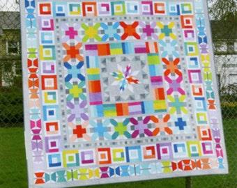 Aviatrix Medallion Quilt Pattern by Elizabeth Hartman