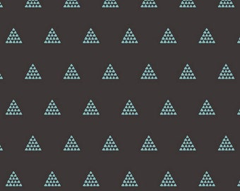 Art Gallery Fabrics - Etno - Contempo Pyramids Ebony - by Pat Bravo