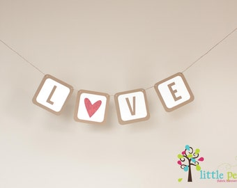 LOVE Banner - Christmas Banner  - Photography Prop Banner - Holiday Banner