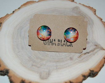 Rainbow Galaxy Earrings
