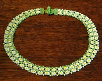 Double Daisy Chain Collar Necklace
