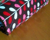 Unpaper Towels Cloth Reusable with Snaps brown pink red flowers Set of 10