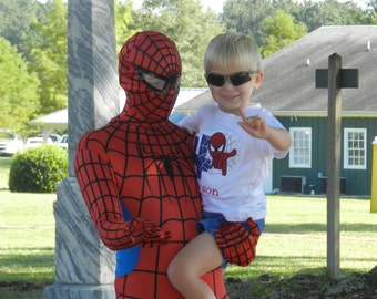 Personalized Birthday Spider-man Shirt or Bodysuit