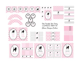 Pink Poodle Party COMPLETE PARTY KIT : By Bloom Designs