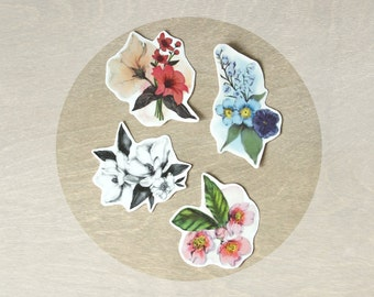 Temporary Tattoos Floral Watercolor Collection (Includes 4 Tattoos)