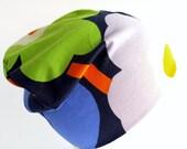 Beanie Hat Poppy Unikko Marimekko - Jersey - Violet Green Blue