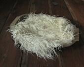 Faux Llama Fur Blanket Basket Stuffer Photo Prop