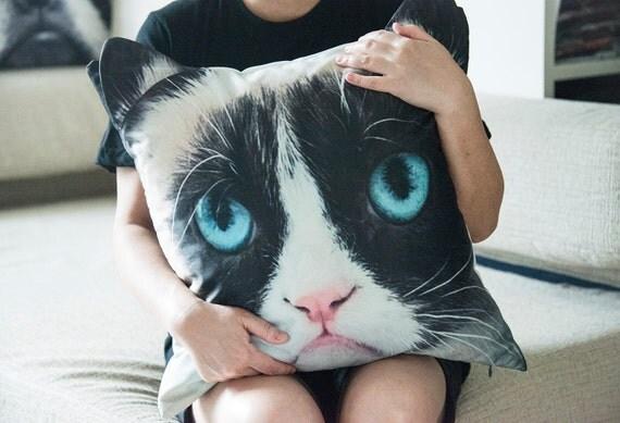 Grumpy, cat pillow, pillow cover, pillow case, cat cushion cover, pet pillow cover, pillow case, CU-134