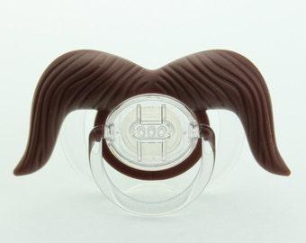 Mustache Pacifier Cowboy Mustache Pacifier Brown Mustache
