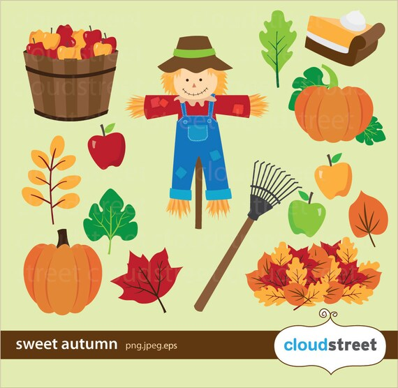 buy 2 get 1 free Sweet Autumn Clipart for personal and commercial use ( fall clip art vector graphics )