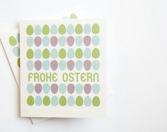 """Greeting Card """"Happy Easter"""" (German)"""