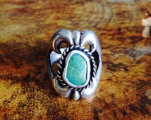 Old pawn Navaho sand cast ring