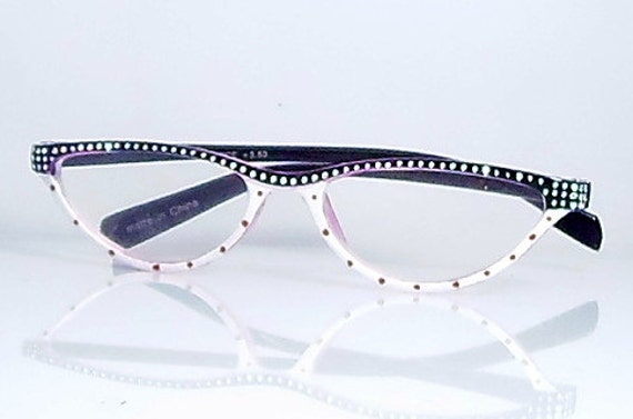 cat eye reading glasses 350 strength handpainted in by