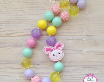 Easter Chunky Bead Necklace - Bubblegum Necklace