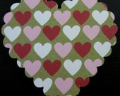 12 Hearts Scrapbook Embellishment, Heart Die Cut, Card Topper, tags/embellishment, Scrapbook, Cards