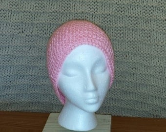 Pretty in Pink Crocheted Hat