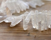 10 - Natural Crystal Pointer Beads Gemstone Jewelry Supplies C180