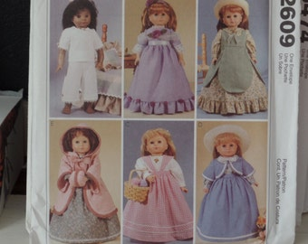 McCalls 2609- 18 inch doll clothes sewing pattern
