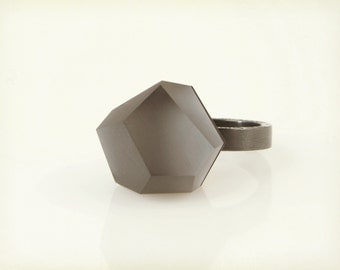 Vu – anthracite grey, black rhodium ring -=PYO=-