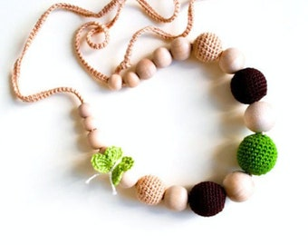 Best seller SimplyaCircle's Nursing Necklace/Teething Necklace-Breastfeeding Necklace-Eco-Friendly-Beige Brown Green-Mother's day