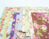 24 Sheets Retro Floral Origami Square Paper Pack for Origami Paper Project - 15cm x 15cm