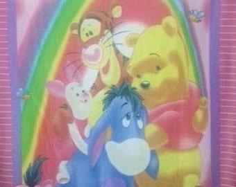 CLEARANCE SALE Disney Winnie The Pooh Tiger Eeyore & Piglet Rainbow Fleece Throw Blanket or Wall Hanging