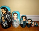 Set of Eight Game of Thrones (The Starks) Nesting Dolls