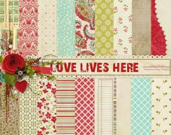 Love Lives Here Paper Set