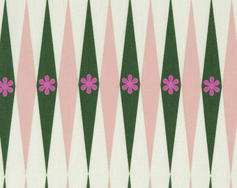Playful - Backgammonish - Green Natural - 0015-2 - 1/2 yard, Additional Available