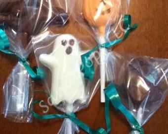 24 Assorted Halloween chocolate lollipops