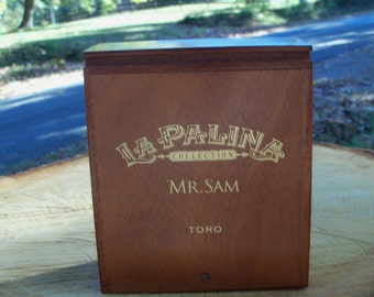 Cigar Box La Palina Mr. Sam Special Edition Wooden Slide Top Chest Three In Stock by IndustrialPlanet