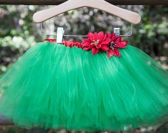Green Christmas Tutu, Christmas Tutu, Baby Christmas Tutu, Newborn Christmas Tutu, Toddler Christmas Tutu, Girl Christmas Tutu, Green Tutu