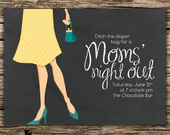 Moms' Night Out Invitation - Digital File Only