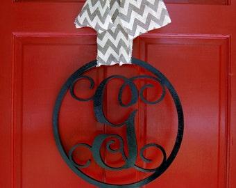 Personalized Single Letter Monogram Door Hanger - Hanging Monogram Initials -  Wall Decor - Graduation Gift - Dorm Decor - Wedding Gift