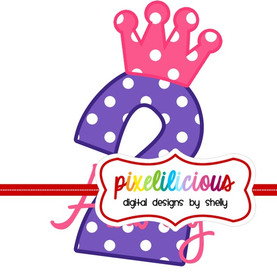 DIY Printable BIRTHDAY Iron On Transfer - Digital Image for Tshirts or Bags - Any Number