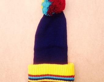 Baby Bobble Hat Vintage Beanie Unworn Deadstock 90s Pom Pom 0-6m
