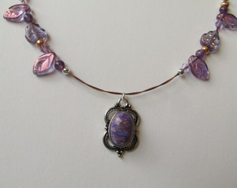 Elven Purple and Copper Autumn Necklace