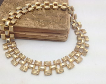 Gold Choker Vintage Necklace