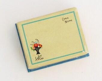 Vintage Art Deco powder box, miniature Cara Nome face powder box, 1930's vanity collectible