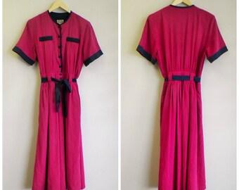 SALE 80s Marion Donaldson dress small . 1980s pink dress