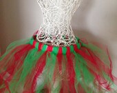 Tutu for Dance or Dress Up, for Baby, Toddler, Girls, Tween, Teen, Women and Runners! - Red and Green for Christmas!