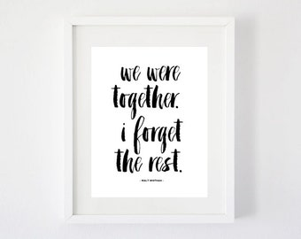 We were Together - Art Print