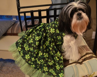 St. Patty's/Patrick's Day/Luck of the Irish Dog/Pet Dress for smaller breed dogs