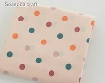 Nude Fabric Nude Dots Fabric, Twill fabric, Nude Polka dots Cotton Fabric 1/2 Yard (QT398)