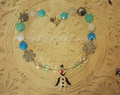 FROZEN Inspired Olaf Chunky Bead Necklace