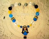 Minions Gril Inspired -  Chunky Bead Necklace