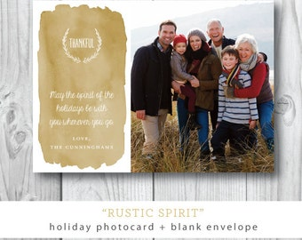 Rustic Spirit Christmas Photocards