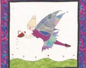 "Quilt Wall Hanging or Block 26 x 26"" Love Blooms Fairy NIP Garden"