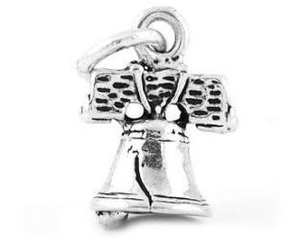 Sterling Silver Liberty Bell Charm (3d Charm)
