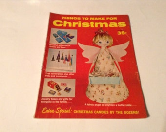 things to make for christmas 1960s craft book